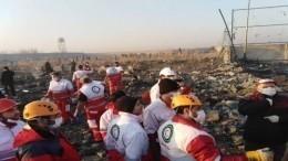 Видео первых минут после крушения украинского Boeing-737 под Тегераном