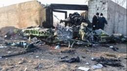 Видео последствий крушения украинского Boeing-737 под Тегераном