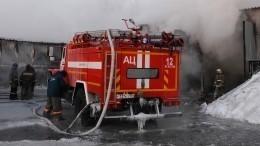Пожарный поезд идроны примут участие втушении пожара вТЦпод Новосибирском