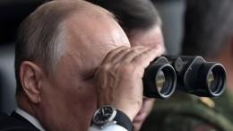 Путин вКрыму наблюдал заучениями Северного иЧерноморского флотов