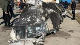 Офис президента Зеленского опубликовал фото фрагментов сбитого Boeing-737