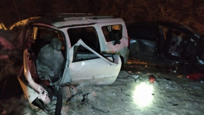 Появилось фото сместа страшной аварии под Рязанью, где погибли три человека