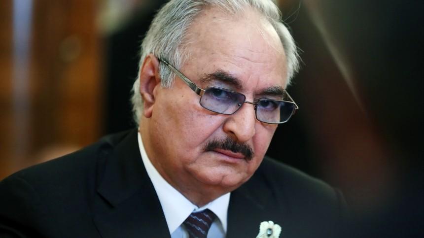 Фельдмаршал Хафтар прибыл вМоскву для переговоров сСарраджем поЛивии