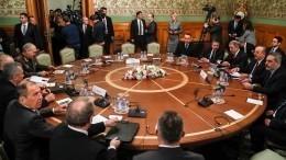 Мировая реакция напереговоры поЛивии вМоскве