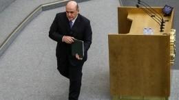 Михаил Мишустин рассказал депутатам Госдумы опланах нановом посту