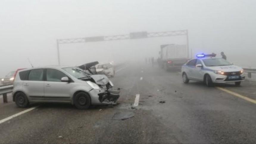Более 15 автомобилей столкнулись натрассе М-4 «Дон» под Адыгейском