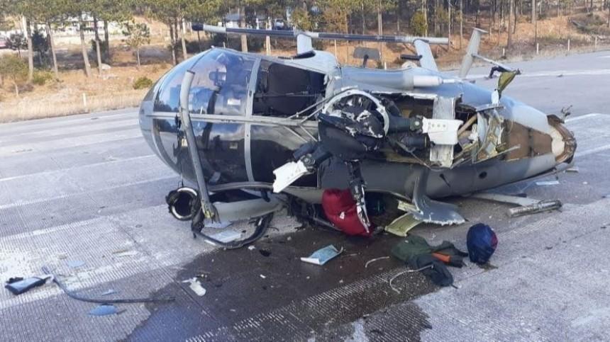 Военный вертолет упал насевере Мексики— фото
