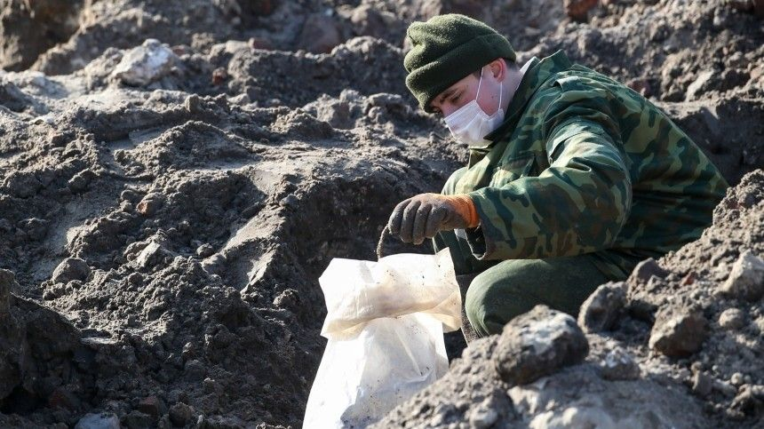 Под Псковом обнаружено массовое захоронение времен ВОВ