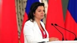Маргарита Симоньян прокомментировала информацию оплохом самочувствии