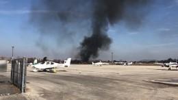 Самолет рухнул нааэродром вКалифорнии