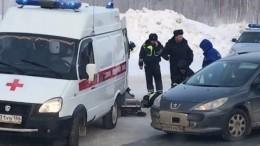 Под Нижневартовском КАМАЗ сбил инспектора ДТП— момент происшествия