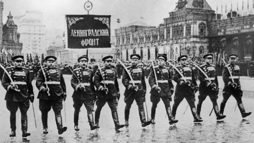 Первый Парад Победы на Красной площади, 24 июня 1945 года.
