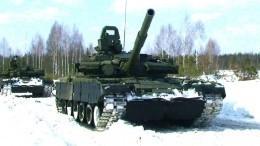 «Стрельба сходу»: Т-80 показали огневую мощь намасштабных учениях вПодмосковье