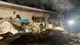 Спасатели опубликовали видео сместа обрушения кровли кафе вНовосибирске