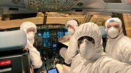 Пилоты Шри-Ланки эвакуировали своих соотечественников изУханя вхимзащите
