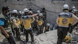 «Белые каски» завершили съемки постановочного видео обиспользовании отравляющих веществ вИдлибе войсками САР