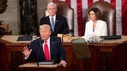 Дональд Трамп выступил сежегодным посланием кКонгрессу