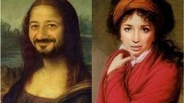 Мона Лиза Галустян: Российские знаменитости наизвестных картинах