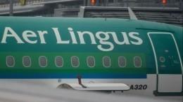 Момент удара молнии всамолет Aer Lingus над Великобританией попал навидео