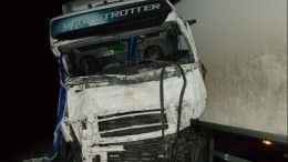 Страшные кадры сместа гибели вДТП восьми граждан Украины под Псковом