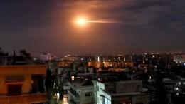 ПВО Сирии отражает ракетную атаку поДамаску ВВС Израиля