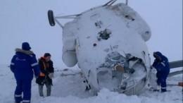 Появились фото сместа крушения вертолета наЯмале, где двое погибли