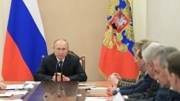 Путин обсудил сСовбезом РФситуацию скоронавирусом иобстановку вИдлибе
