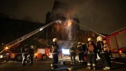 Кровля завода «Красный треугольник» загорелась вПетербурге