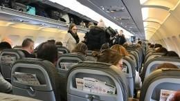 Нетрезвая пассажирка устроила дебош всамолете попути изПетербурга вСочи