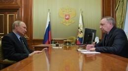 Путин обсудил сБегловым социальные проекты истроительство арт-парка вПетербурге