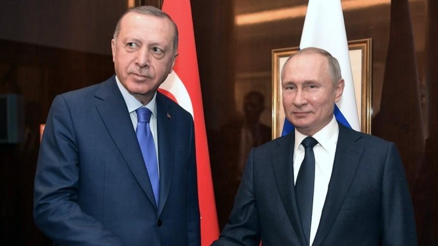 Путин иЭрдоган обсудили ситуацию вИдлибе