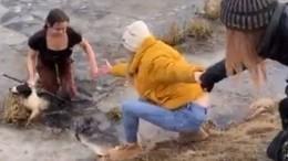 Мать троих детей изМытищ бросилась вледяную воду спасать собаку