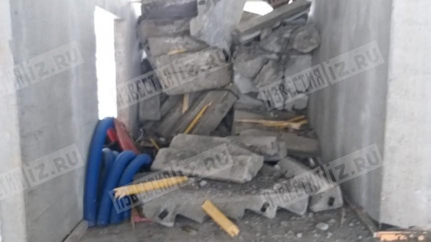 Первые кадры сместа обрушения лестничных проемов вИжевске