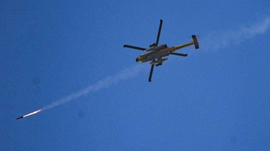 Трое пострадали при атаке вертолетами ВВС Израиля постов сирийской армии вЭль-Кунейтре