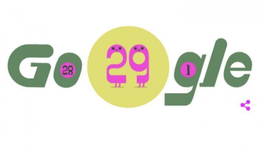 Google опубликовал Doodle вчесть високосного года
