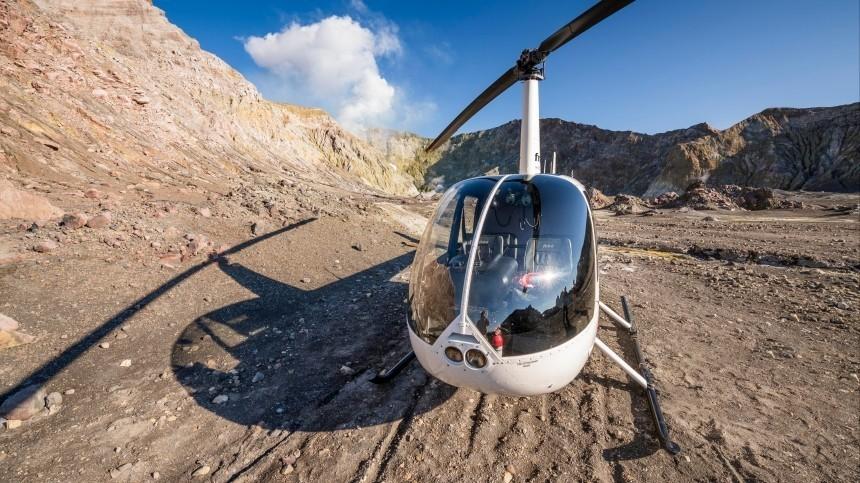 Спасатели нашли место крушения частного вертолета под Астраханью