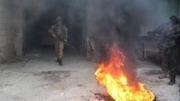 Боевики вИдлибе подорвались при попытке применить химоружие