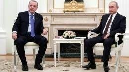 Путин навстрече сЭрдоганом назвал трагедией гибель турецких солдат