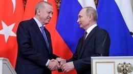 Путин положительно оценил итог переговоров сЭрдоганом