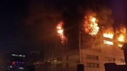 Пожар произошел вспортшколе вподмосковных Химках наплощади 1200 квадратов