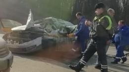 Таксист погиб втройном ДТП наМКАД— фото