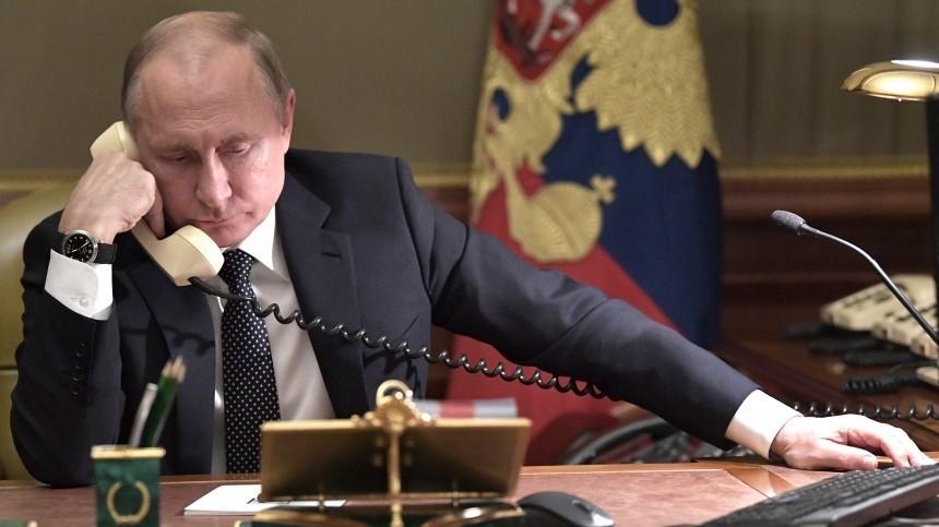 Путин провел телефонные переговоры сЭрдоганом
