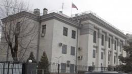 Украинские радикалы обстреляли изракетниц посольство России вКиеве— видео