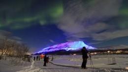 Необычное световое шоу устроил финский художник вчесть дня Святого Патрика