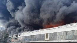 Площадь горящего склада вПодмосковье увеличилась до60 тысяч «квадратов»
