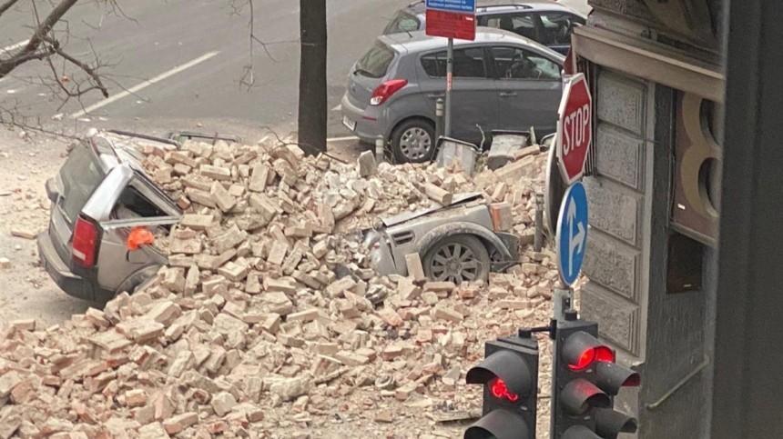 Видео последствий сильнейшего за140 лет землетрясения вХорватии