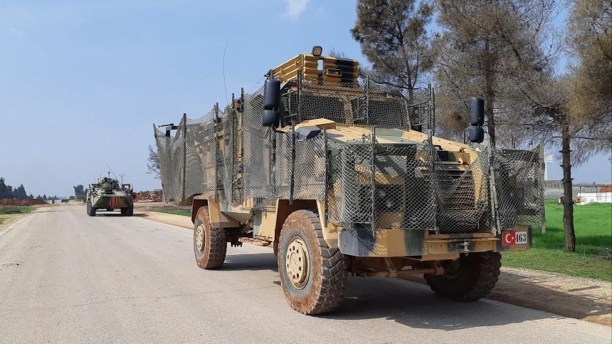 Российские итурецкие военные провели совместное патрулирование вСирии
