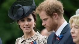Кейт Миддлтон едва сдержала слезы при разговоре спринцем Гарри