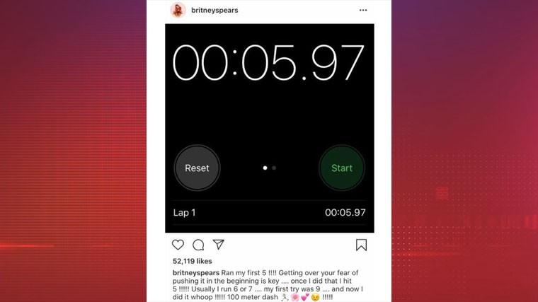 Бритни Спирс заявила, что побила рекорд Усейна Болта
