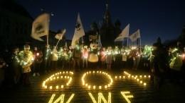 Крымский мост, Эрмитаж, Кремль: как прошла акция «Час Земли» вРоссии